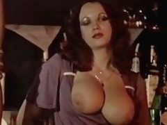Busty and hairy honeys fuck in front of other guests