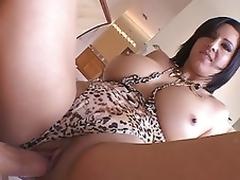 Hot milf Cynthia Pendragon squats wet vagina ontop on big man bone riding load and long