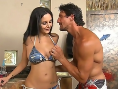 Sexy Ava Addams was invited by Tommy Gunn to tan at his marvelous swimming pool