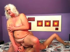 Naughty forty slutty milf floozy lesbo Judi gets her orgasmic cunt licked by a slutty brunette floozy Parker