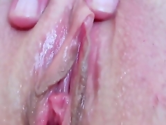 Devilishly hot slut Eileen with soaked tits and smooth bush fucking herself with fingers on camera for your viewing enjoyment