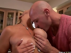 The appetizing pornstar Abbey Brooks with big natural tits demonstrates their charms for Johnny Sins. He is excited and her melons fall into his hands. Enjoy this perfect video!