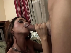 The breasty milf Ariella Ferrera has come to visit her son and unintentionally got to another flat where met a well hung dude that worshipped her large mounds and fed with the hard stick
