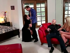 Black haired hottie Chanel Preston and turned on Erik Everhard enjoy in their steaming hawt group sex session with another couple in the room and make themselves a priceless swing sex
