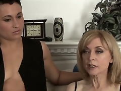 Nina Hartley adores beauties and she changes girlfriends very often so this is her new favorite Syd Blakovich A and u will be greatly impressed to see both in hot fuck session