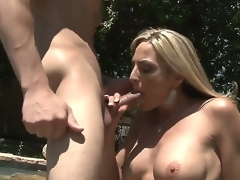 Blond MILF Sindy Lange is so much of a sex-frenzied cougar that that babe doesnt even mind hooking it up with her son-in-law. His large young cock makes her feel so alive!