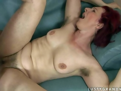 Debra is a fuck hungry red-haired mature woman with bushy pussy and hairy armpits. This babe acquires her muff drilled hard by thick dicked boy. This babe takes his young sturdy dick deep in her vagina previous to he shoot shoots his load