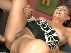 Lupita is one excited as hell older woman with moist hairy pussy. She spreads for juvenile guy and takes his hard jock in her desirous vagina. Watch him drill oldies muff like theres no tomorrow