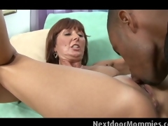 Mature woman takes a fat black cock