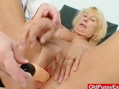 Outstanding busty gramma boobies and muff gyno examination