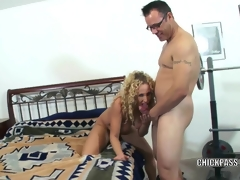 Lascivious MILF Samantha acquires stuffed with a subrigid cock