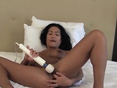 Asian MILF Tia Vibrating Her beaver