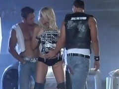 Blond Milf IS Gangbanged By Horny Weenies