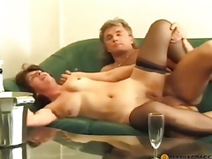 Drunk wench fucks with a boy