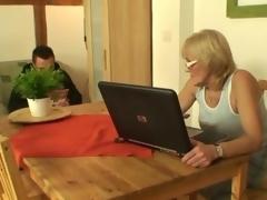 Porn-loving granny fucks a youthful lad