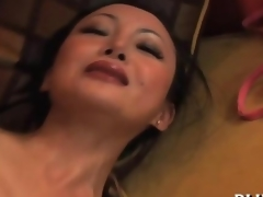 Asian silicone bitch gets her ass wrecked