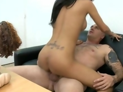 Busty darling gets wild fucking and she loves the weenie