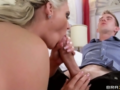 Sexy blonde tramp gives her hung paramour an amazing POV tugjob