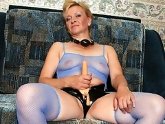 Donna was so concupiscent - that babe thought she'd finally get to wear her belt on sex tool and fuck some hot girl. That babe was so eager that when we got to her place, we saw this oldie jerking off her plastic cock. We couldn't allow such a wicked deed to go unpunished. We