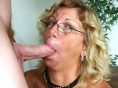 I've been chatting with lewd mature Alicia for sometime now when we finally decided that it was time to meet. After a quick call, this blond granny was hurrying over to my place where she eagerly lapped up my pole and loved the sexy facial I gave her.