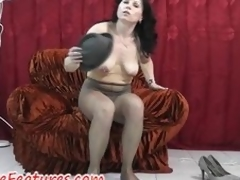 Hose good-luck shred fun with regard to perfect milf in backstage