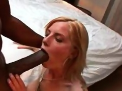 Biggest black pecker dude brings home a concupiscent wife