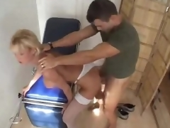 Doctor bonks his hot blond patient hard