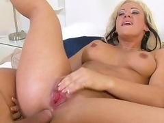Grab the lotion, and pull up a seat for a spanktastic one-on-one with mature lady Vanessa Gold. This seasoned piece of a-hole receives fucked, and dick receives sucked. This Babe's a bitch for anal, and can't live out of a gonzo and keeps Mick going till her blows his load all over her nice rear.